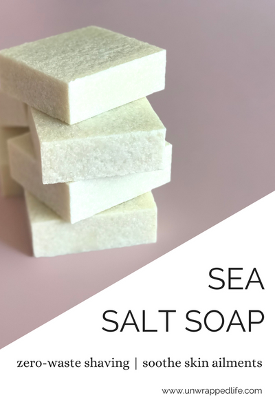 Check out our blog about sea salt soap for a zero-waste shaving routine to help you cut down on plastic pollution during plastic-free July.