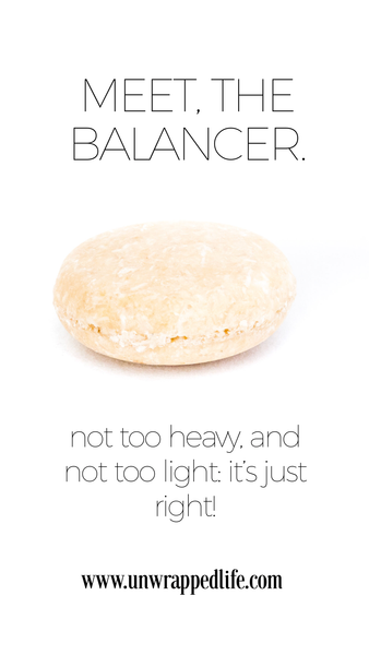 The Balancer solid shampoo bar from Unwrapped Life