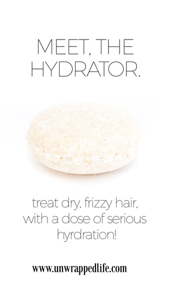 The Hydrator solid shampoo bar from Unwrapped Life