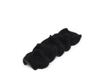 Reusable Organic Bamboo Velour + French Terry Rounds (Black)