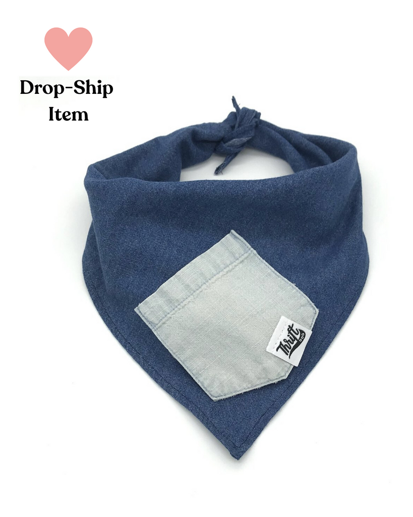 Mixed Denim Treat Pocket Bandana