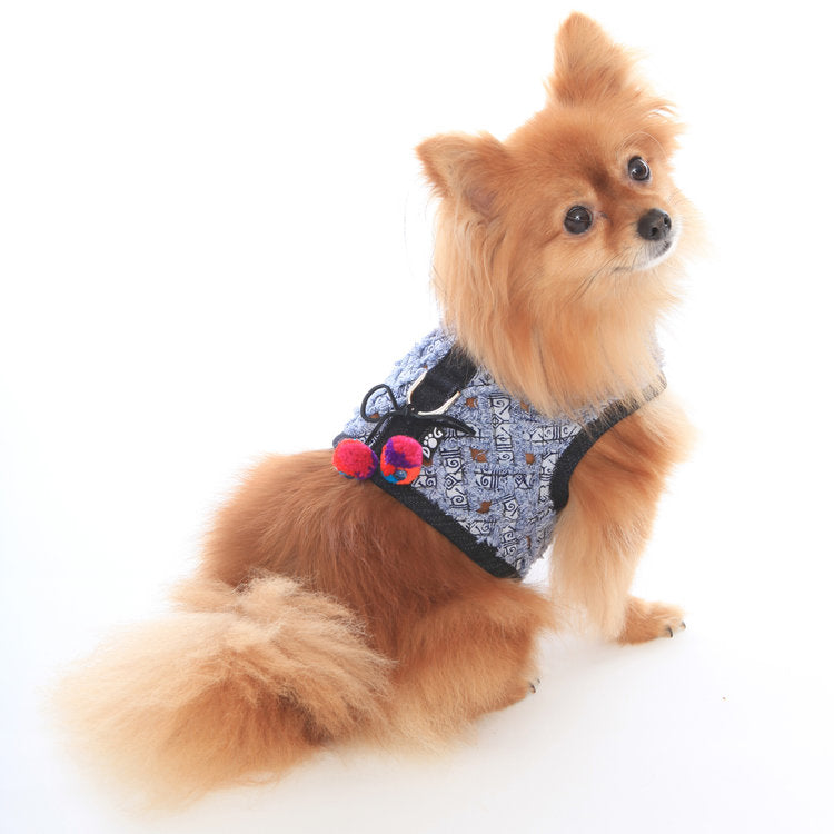 DOG IN THE CLOSET | Venice Frayed Denim Harness Vest