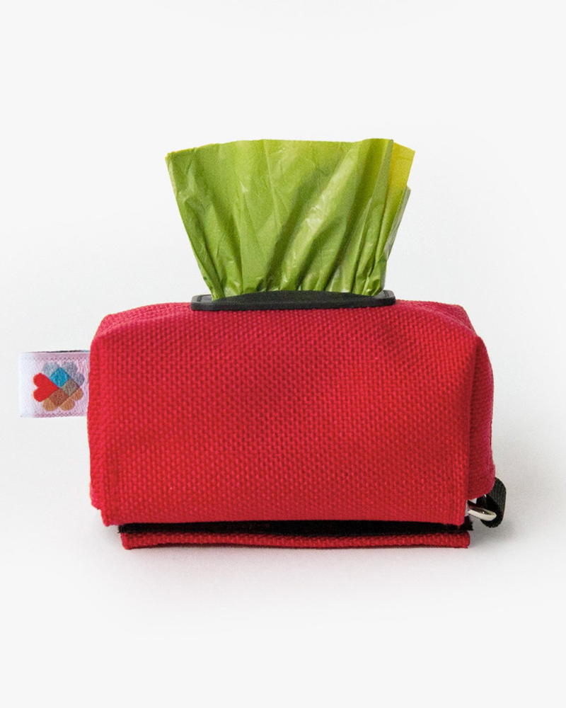 Funston Poo-Bag Dispenser in Red (Made in the USA)
