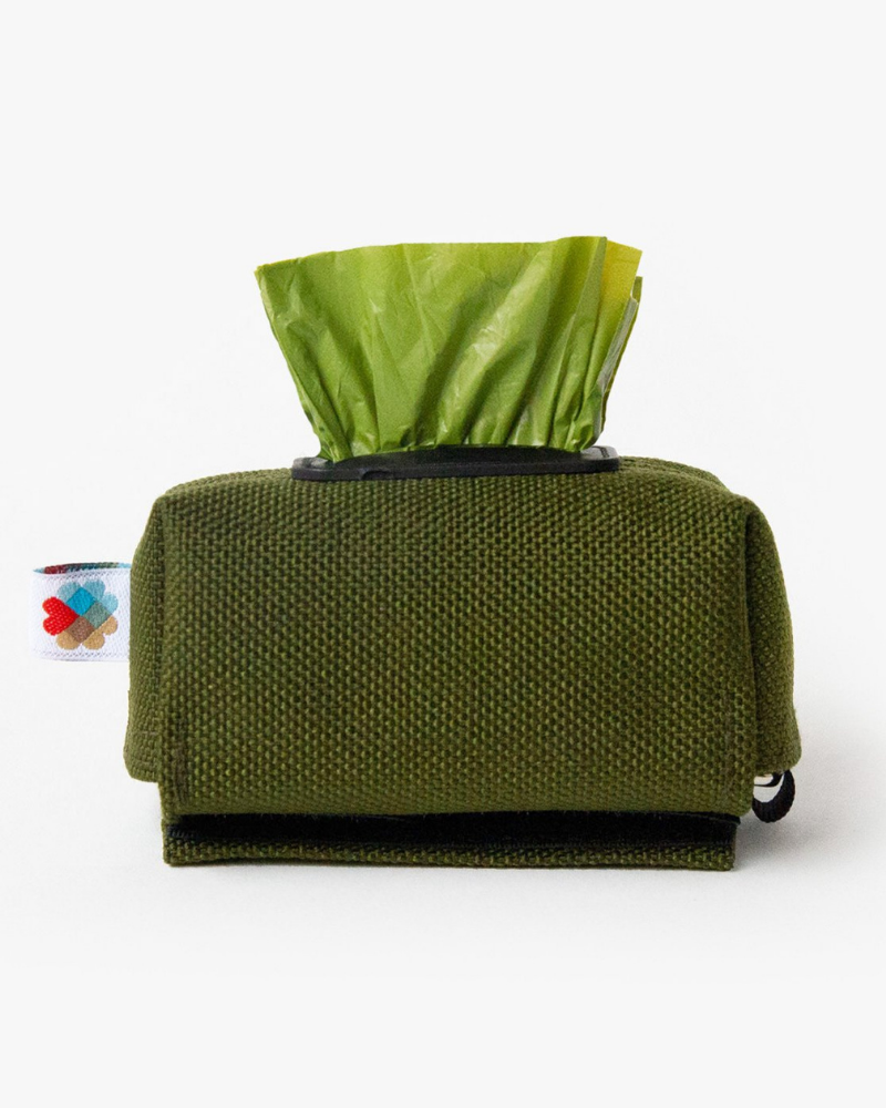 Funston Poo-Bag Dispenser in Olive Green (Made in the USA)