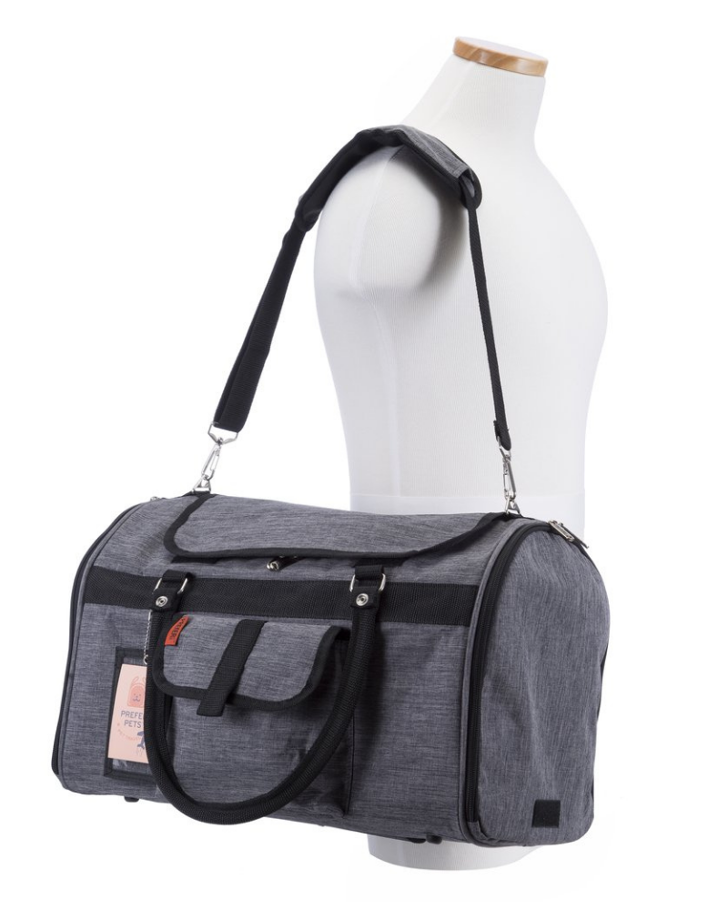 Hideaway Duffle Pet Carrier in Heather Grey (Airline Approved)