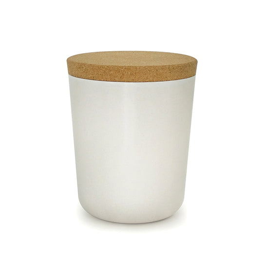 Biobu Claro Storage Jar in White