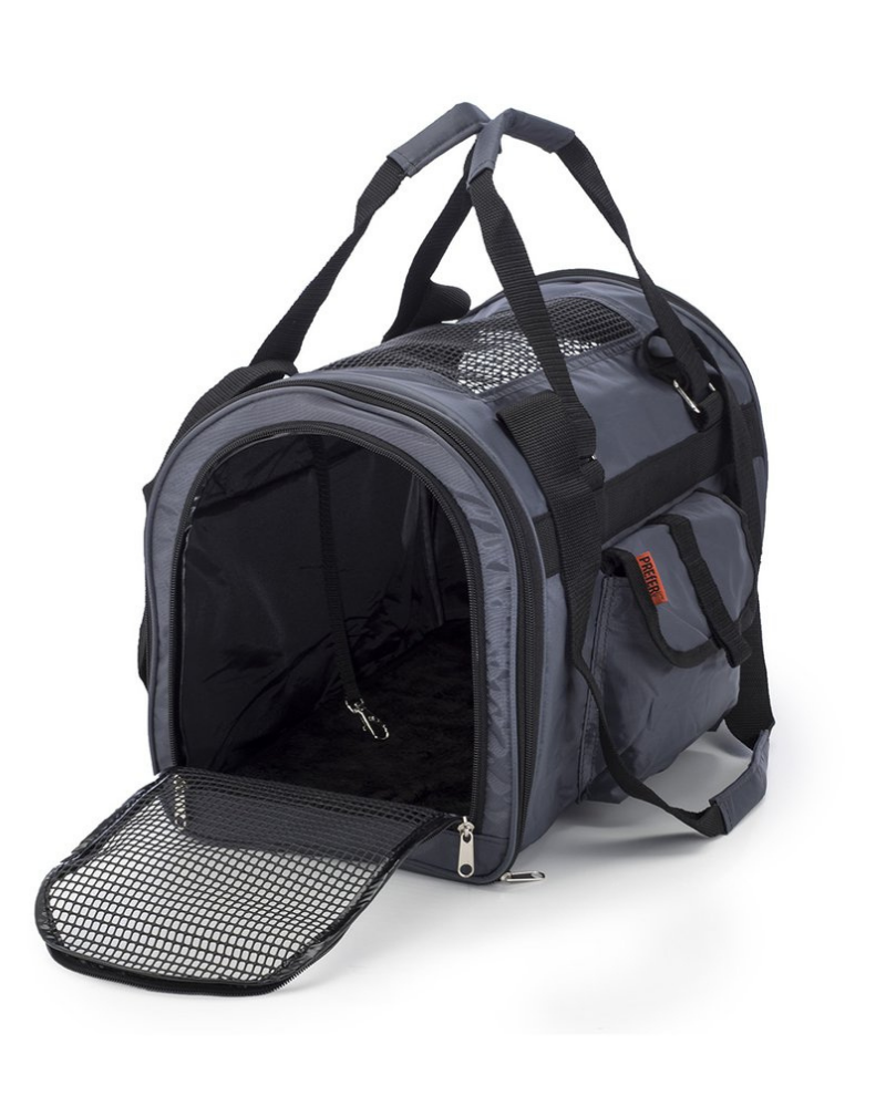Jet Carrier Pet Carrier in Black or Tangerine (Airline Approved)