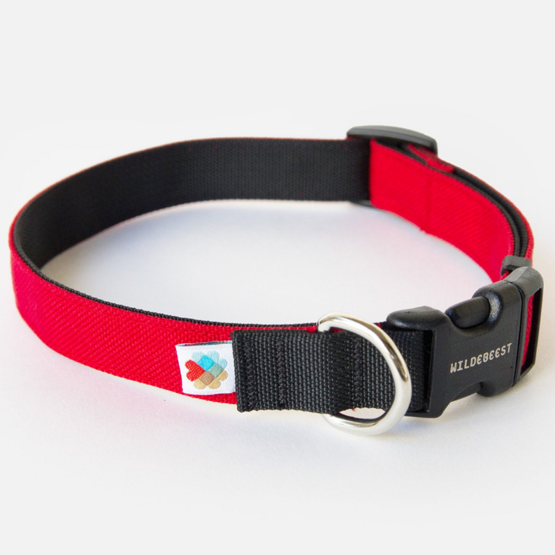 Funston Dog Collar in Red (Made in the USA)
