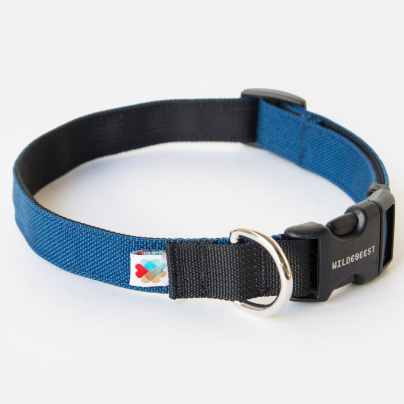 Funston Dog Collar in Navy (Made in the USA)