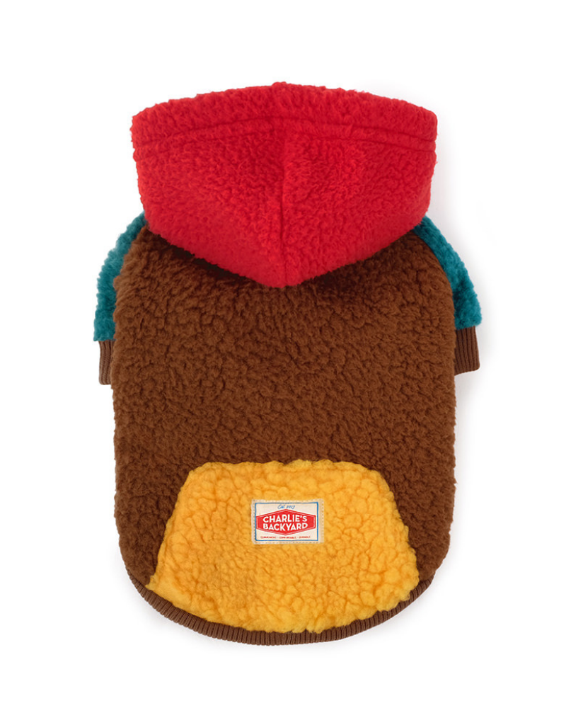 Cooper Plush Fleece Dog Hoodie