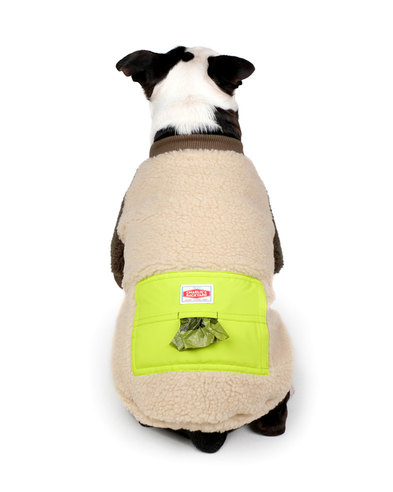 Tripper Nubbly Fleece Dog Pullover in Beige