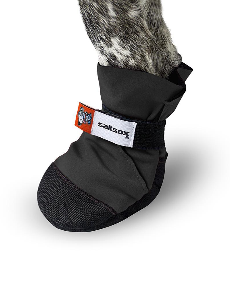 SaltSox Fleece-Lined Dog Booties in Blizzard Black