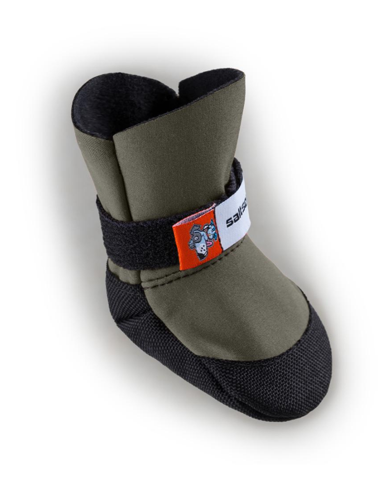 SaltSox Fleece-Lined Dog Booties in Icebreaker Grey