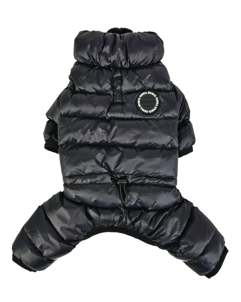 Ultra Light Winter Puffer Jumpsuit in Black