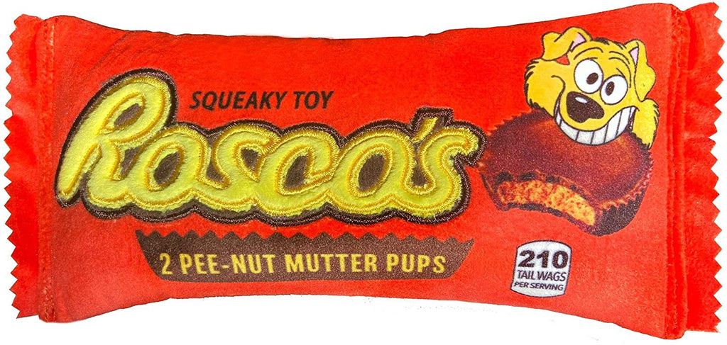 Rosco's Pee-Nut Mutter Dog Crinkle Plush Toy
