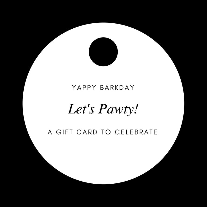 GIFT CARD | Yappy Barkday