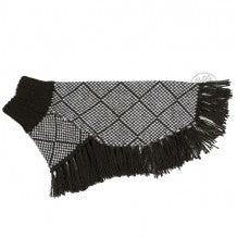 ALQO WASI | Diamond Sweater Poncho in Black + White