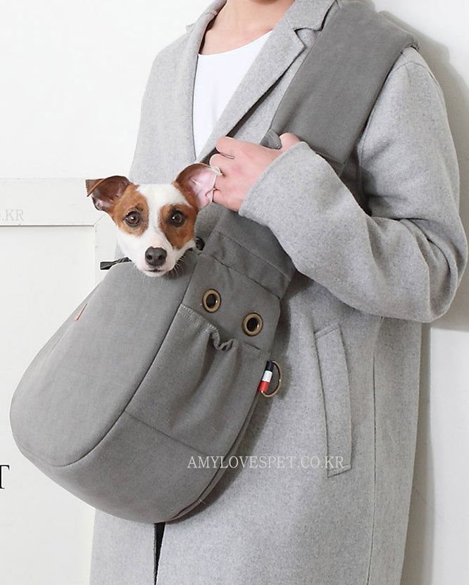 Half Sling Crossbody Bag in Cozy Grey