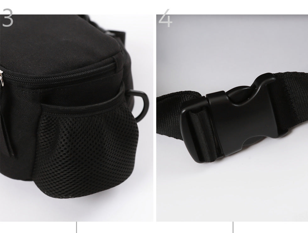 Hands-Free Hip Bag in Black