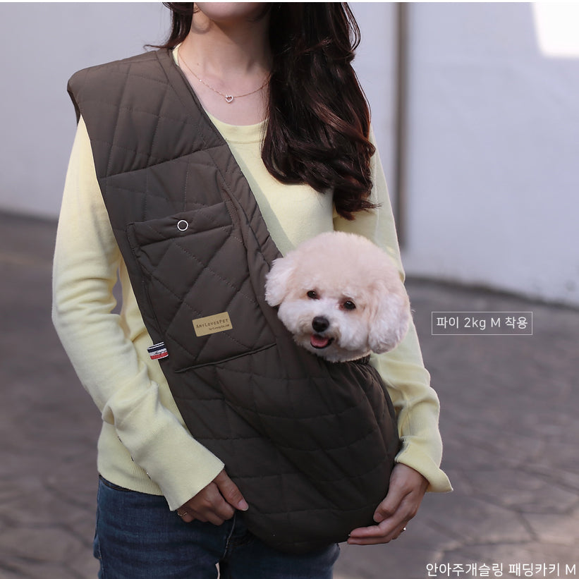 Hug-Me Sling in Quilted Khaki (FINAL SALE)