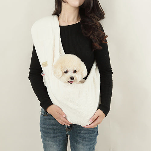 ALP | Hug-Me Sling in Cream Wooly Fleece