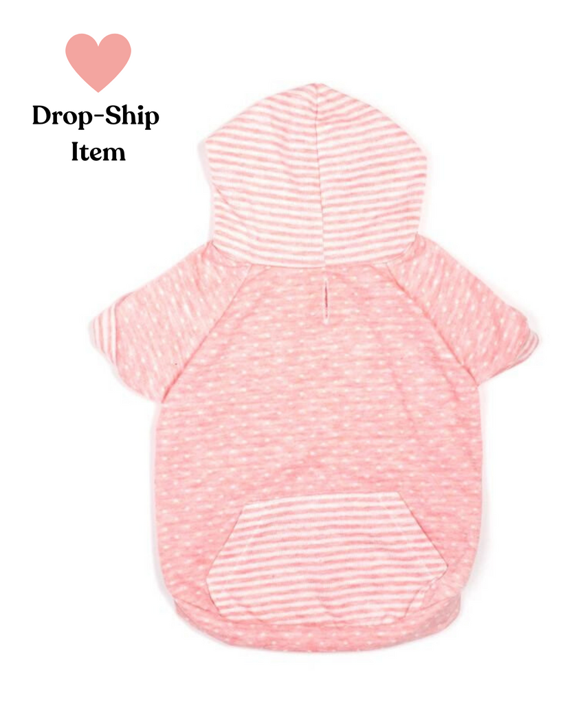 Pink Dot & Stripe Hoodie (Drop-Ship)