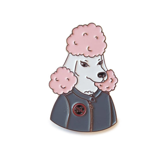 THESE THINGS | Bad Biter Gang Pissed Poodle Enamel Pin