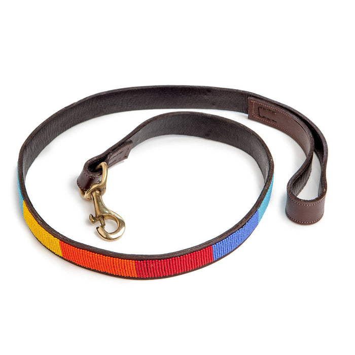 BEADWORKS KENYA | Rainbow Stripe Beaded Leash
