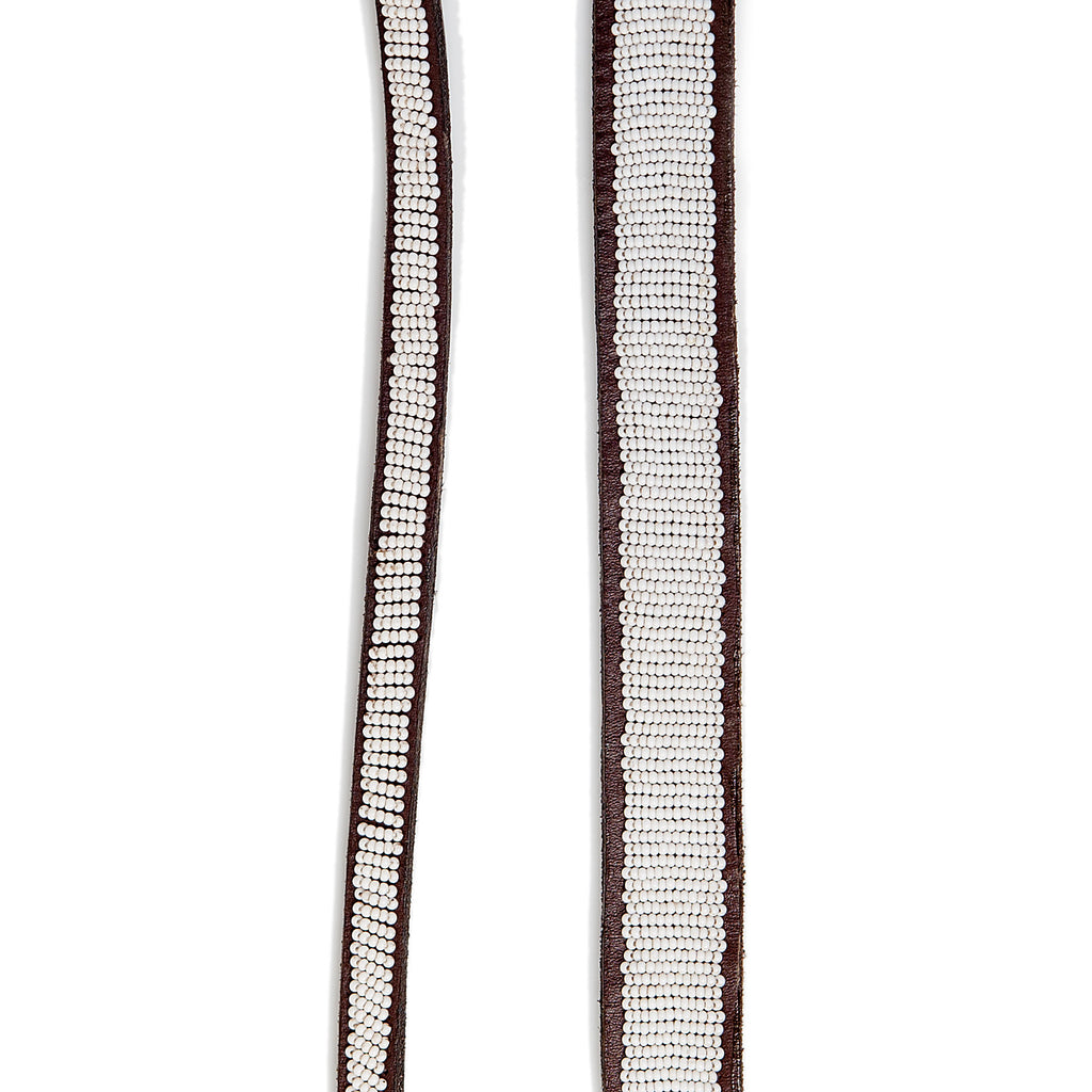 BEADWORKS KENYA | White Beaded Leash
