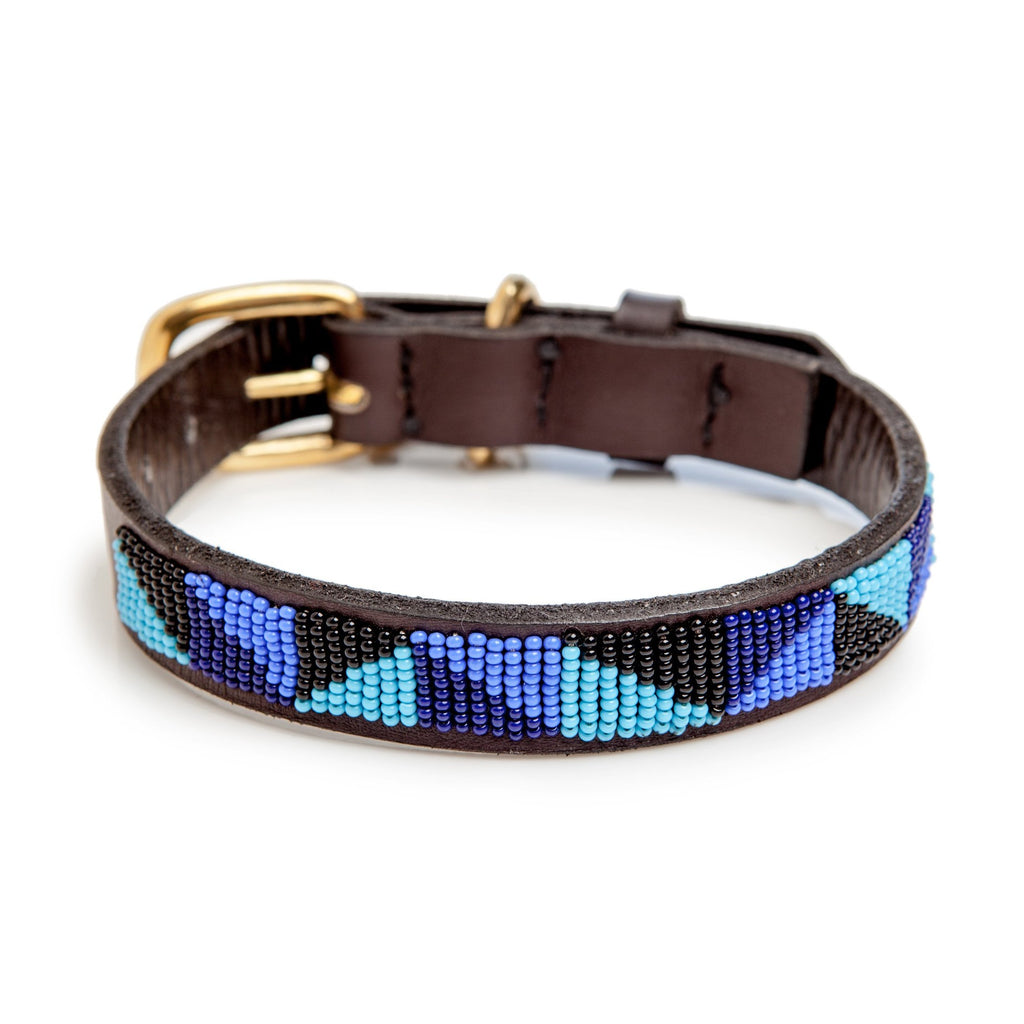 BEADWORKS KENYA | Ziggy Blue Beaded Collar