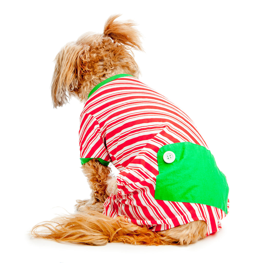 BEST FURRY FRIENDS | Red and White Striped Holiday PJs