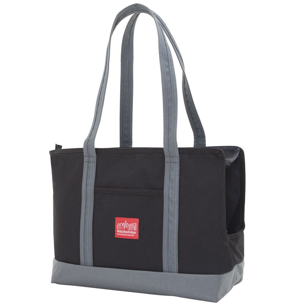 Pet Carrier Tote Bag in Black and Grey (Large)