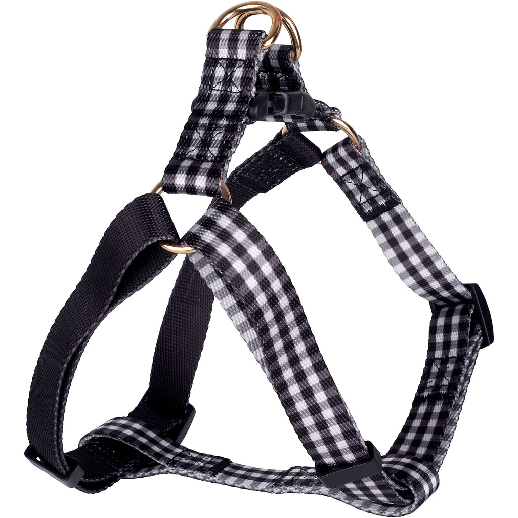 Black Gingham Harness & Leash Set (Drop-Ship)