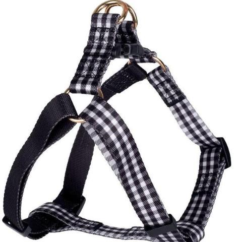 BOULEVARD | Gingham Harness in Black