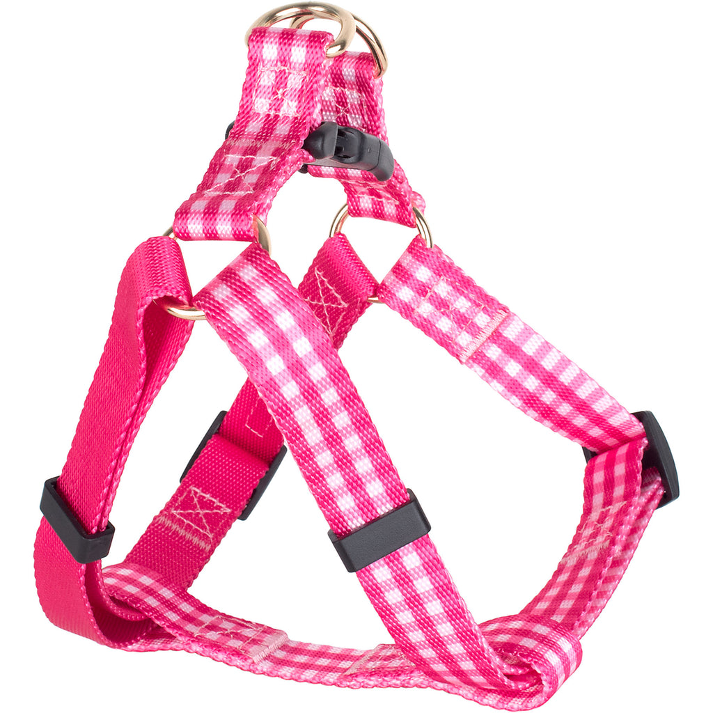 Pink Gingham Harness & Leash Set (Drop-Ship)