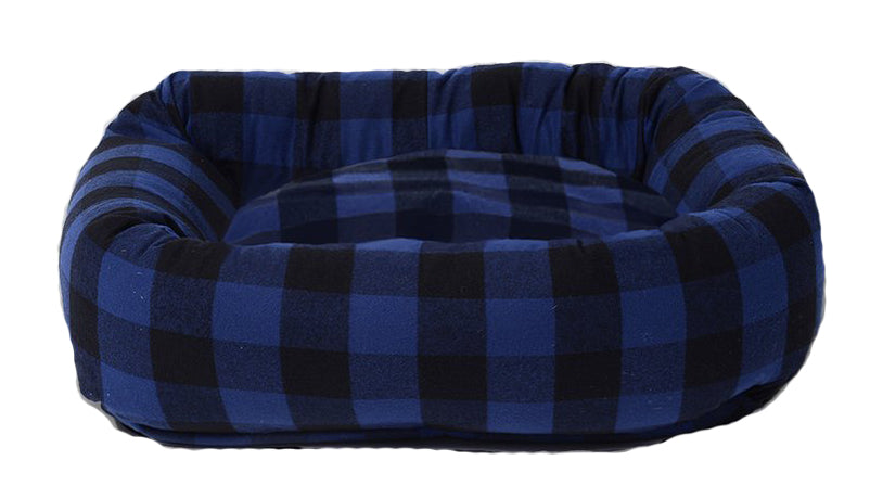 WAGGO | Buffalo Plaid Snuggler in Indigo