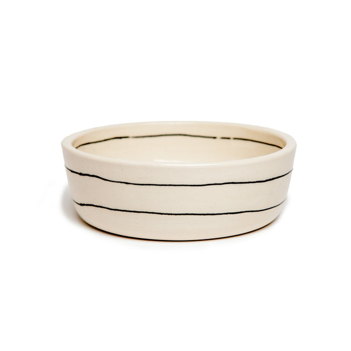 BTW CERAMICS | Small Stripes Dog Bowl (Dog & Co. Exclusive)