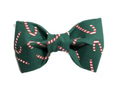 TRISH HAMPTON | Green Candy Cane Bow Tie