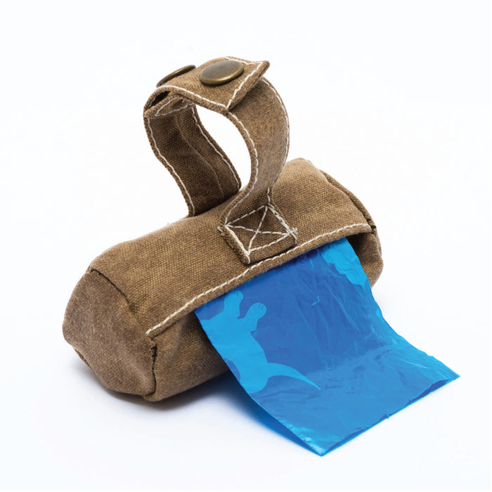 BILLY WOLF | Rufus Poop Bag Holder in Brown