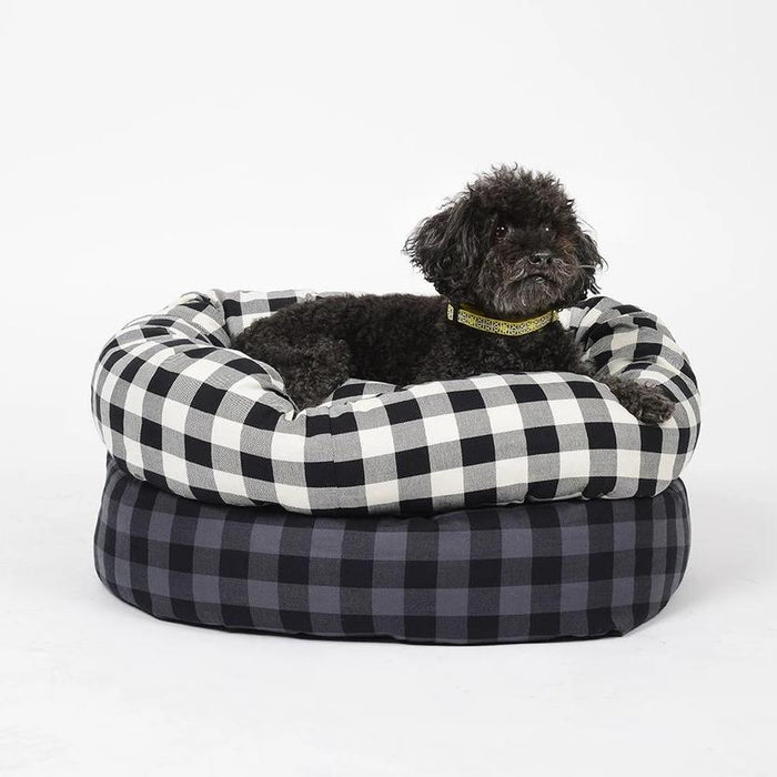 WAGGO | Buffalo Plaid Round Snuggler
