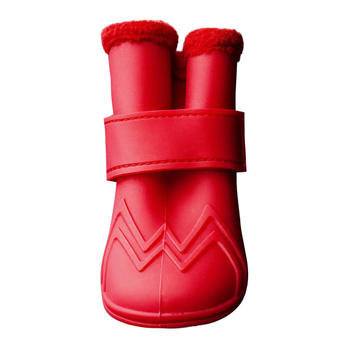 CANADA POOCH | Fleeced Lined Wellies Boot in Red (BIG DOG SALE)