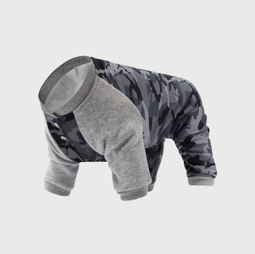 CANADA POOCH | Frosty Fleece Sweatsuit in Grey Camo