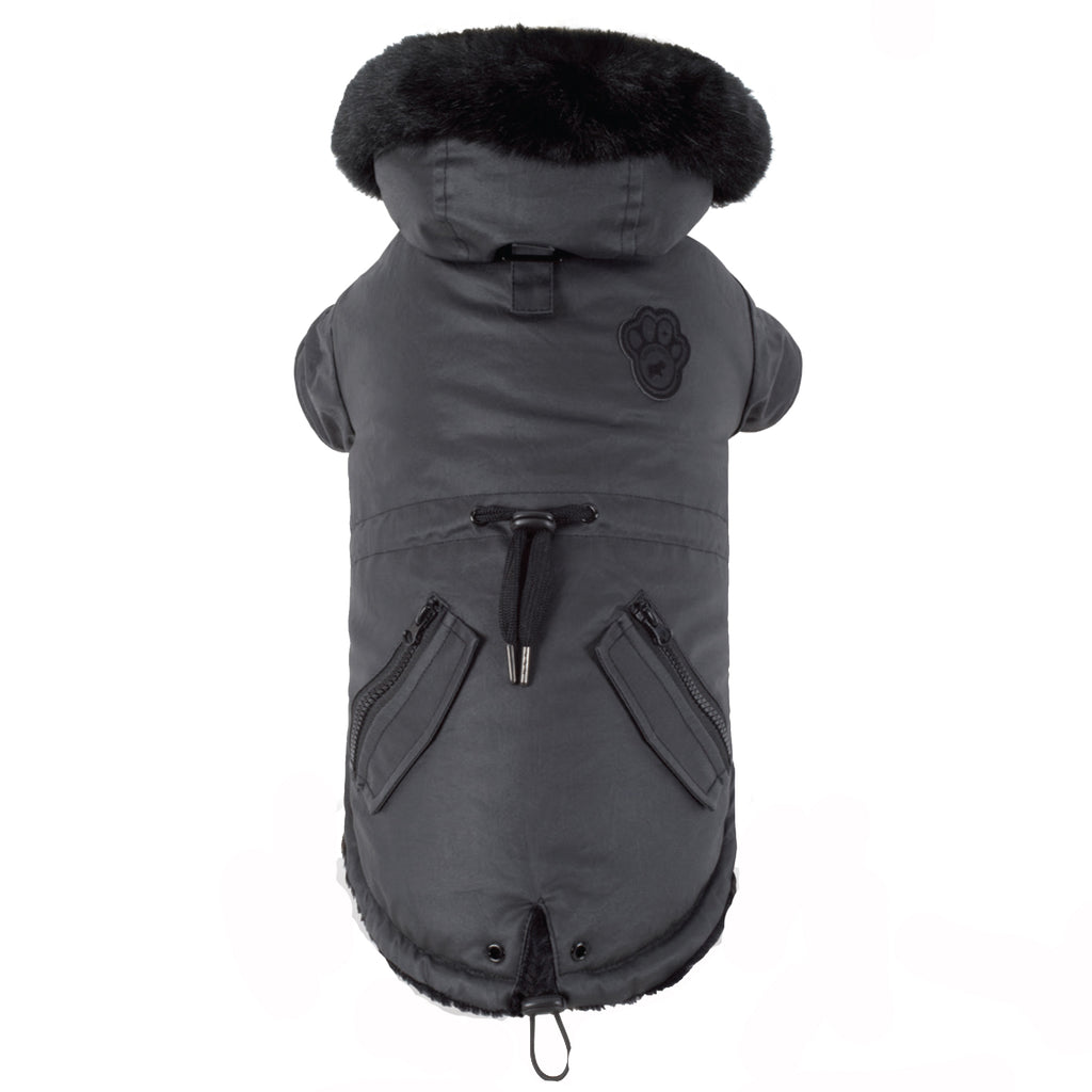 Urban Wax Dog Parka in Black