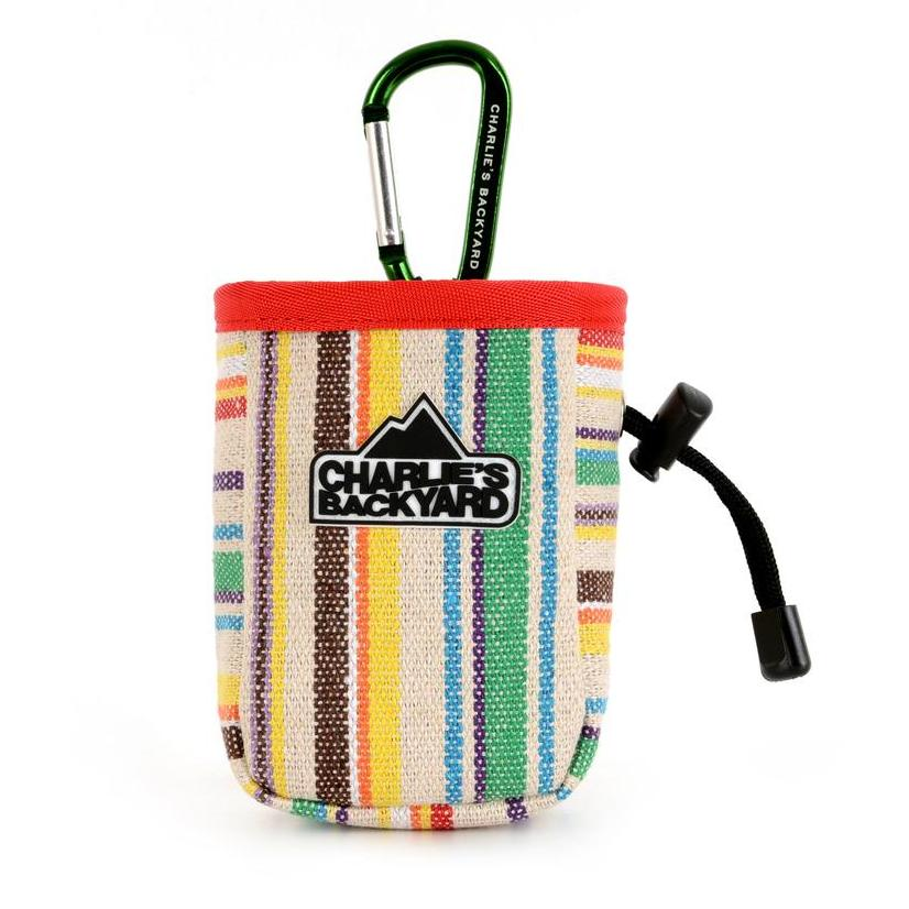 CHARLIE'S BACKYARD | Treat Bag in Green Stripe