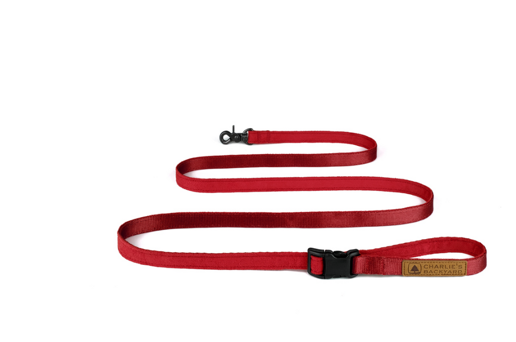 Adjustable Easy Leash in Red