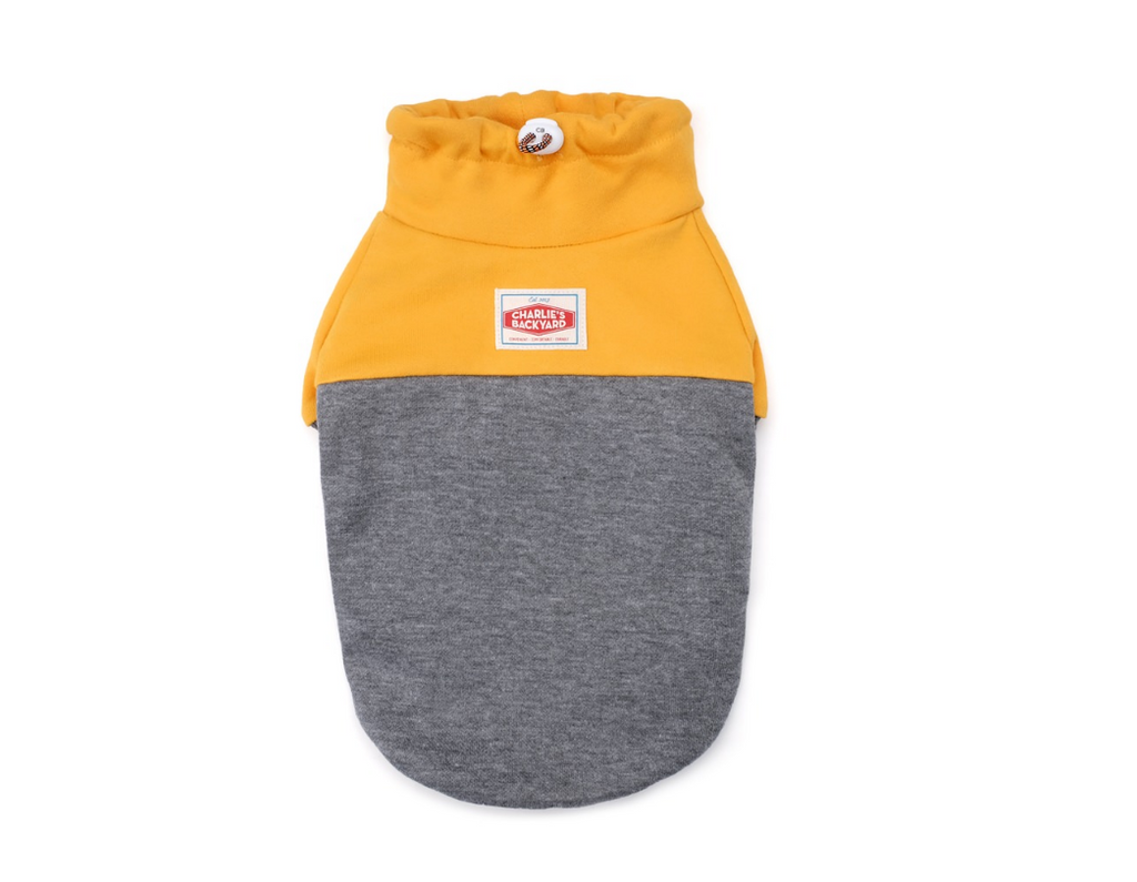 CHARLIE'S BACKYARD | Rover Pullover in Grey & Yellow