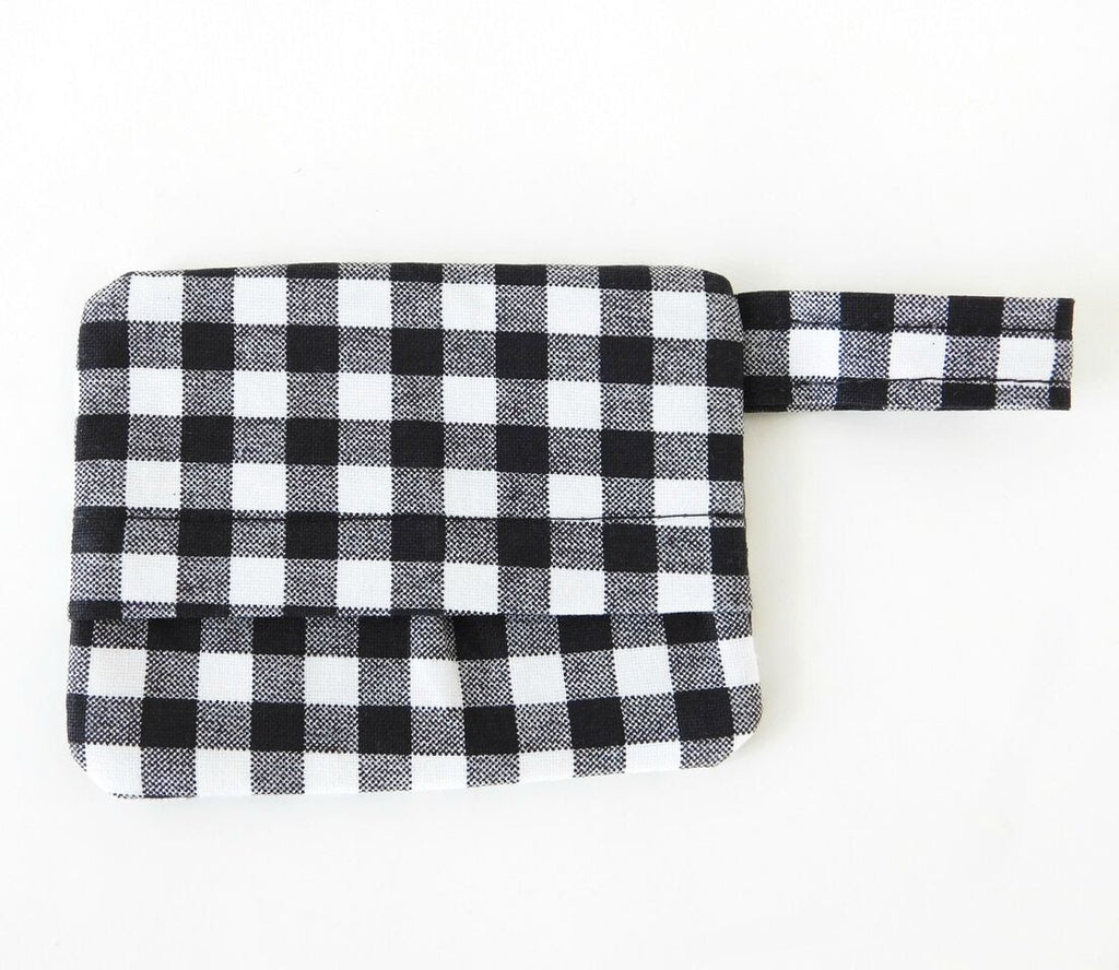 CHARLOTTE'S PET | Waste Bag Hold in Black Gingham