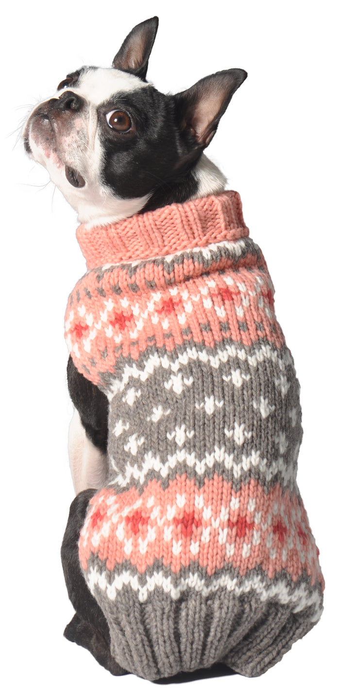 CHILLY DOG | Fairisle Sweater in Peach