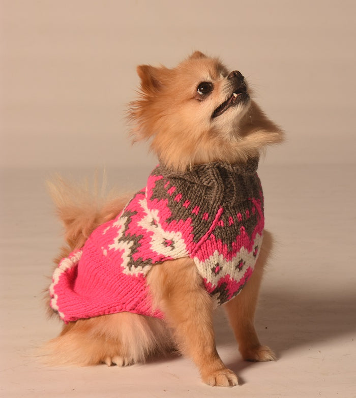 CHILLY DOG | Hot Pink Alps Sweater