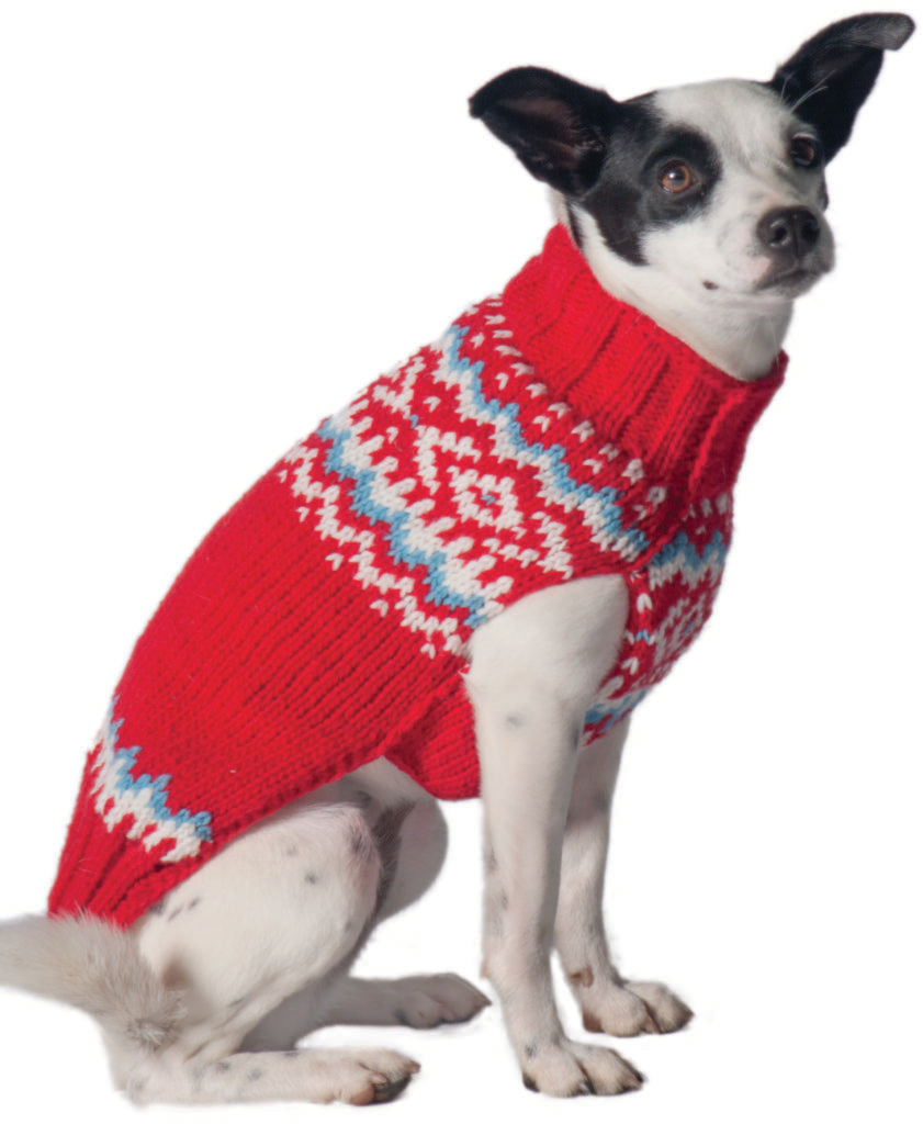 CHILLY DOG | Red Nordic Wool Sweater
